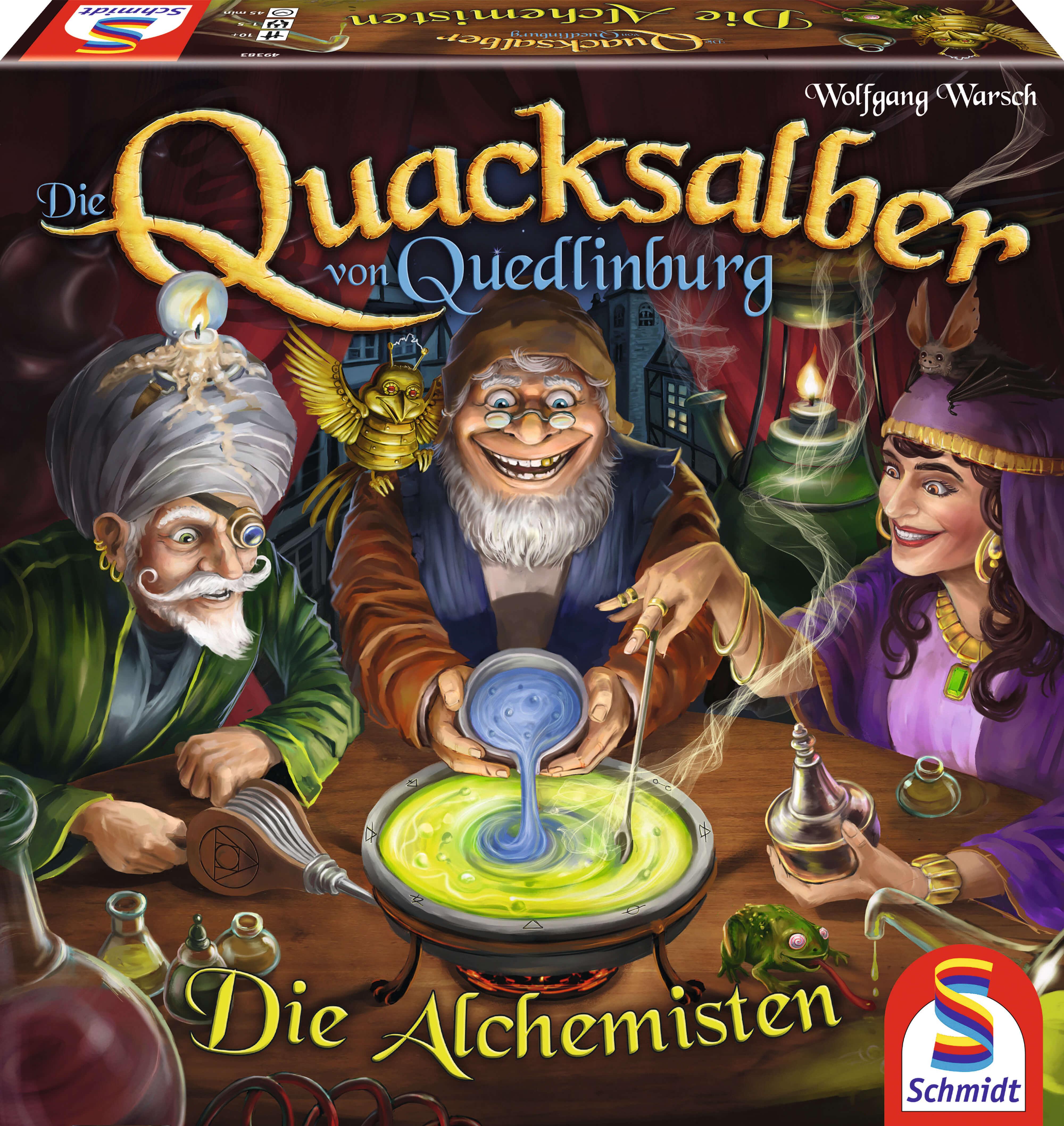 Schachtel Vorderseite- Die Quacksalber von Quedlinburg - Die Alchemisten