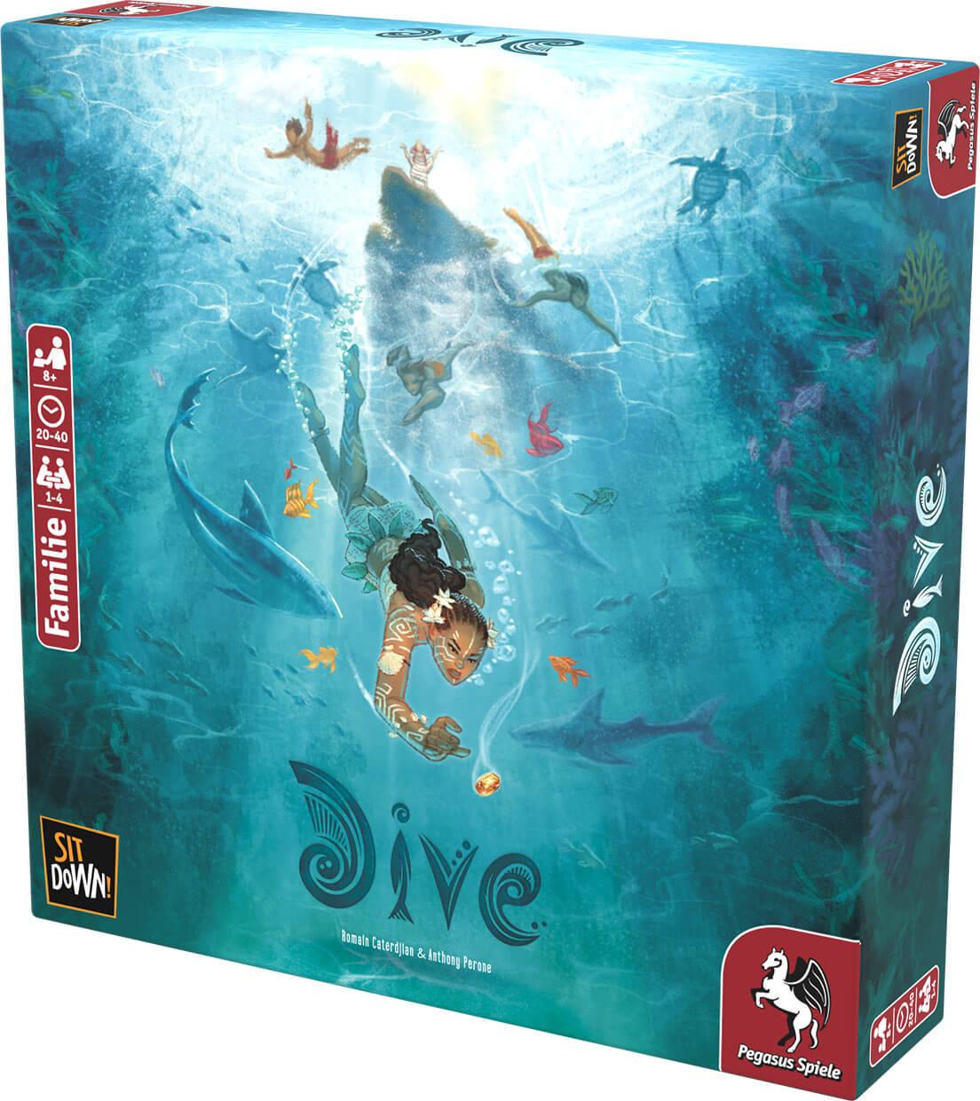 Schachtel Vorderseite- Dive