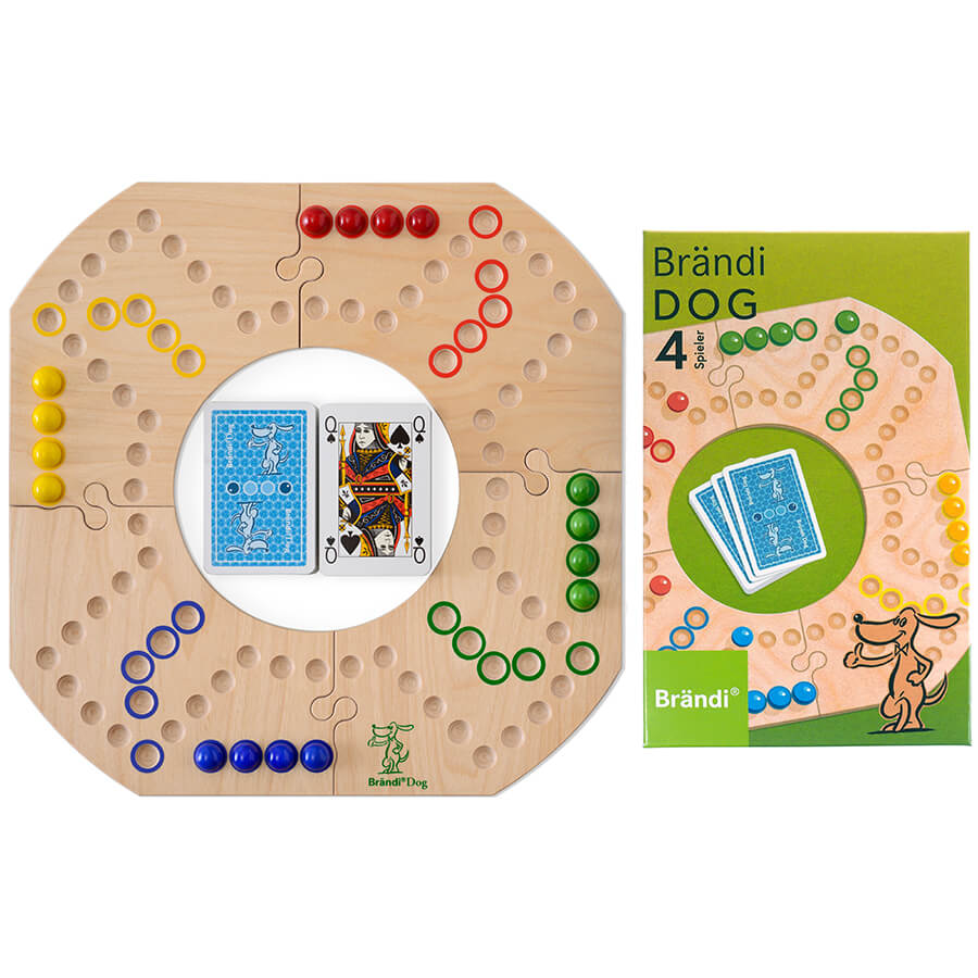 Brändi Dog Spielbrett mit Verpackung- Brändi Dog
