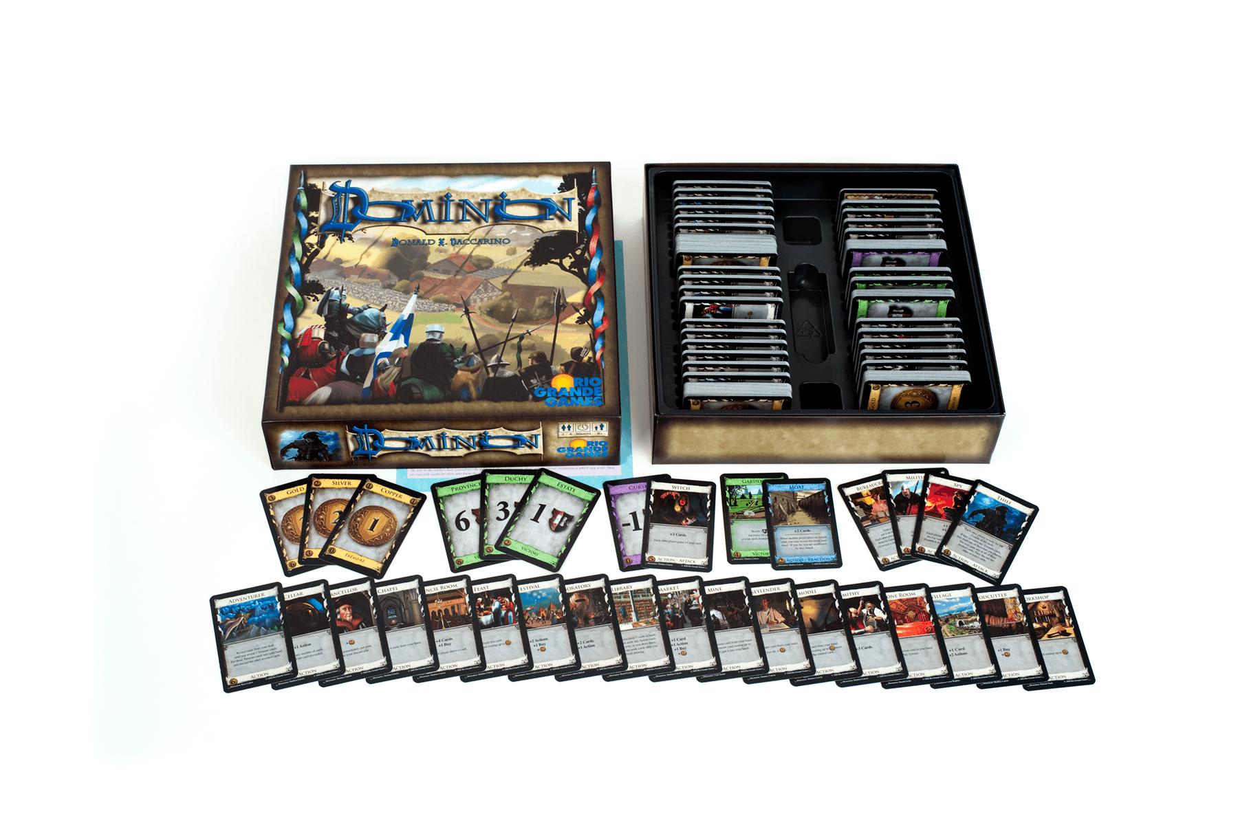 Spielschachtel mit Karten- Dominion: Basisspiel