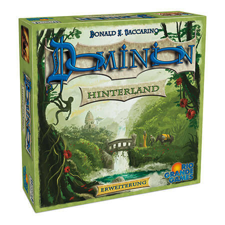 Schachtel Vorderseite, linke Seite- Dominion: Hinterland