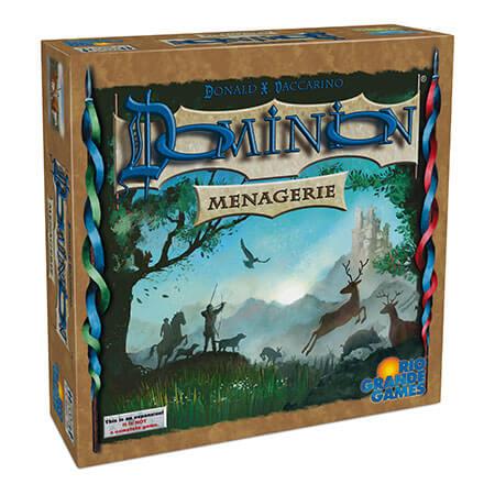 Schachtel Vorderseite, linke Seite- Dominion: Menagerie