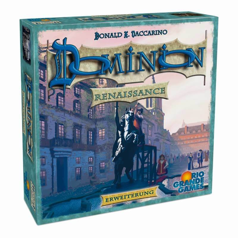 Schachtel Vorderseite, linke Seite- Dominion: Renaissance
