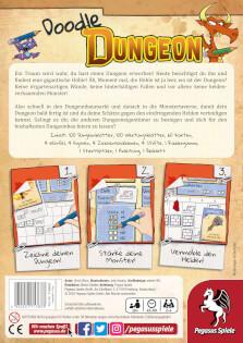Schachtel Rückseite- Doodle Dungeon