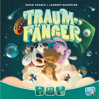 Cover - empfohlen zum Kinderspiel des Jahres 2021- Traumfänger