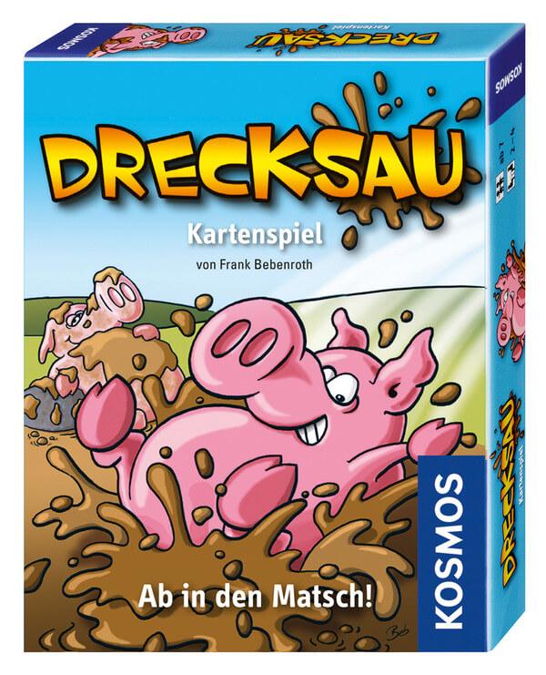 Schachtel Vorderseite, rechte Seite - nominiert zum Spiel des Jahres 2012- Drecksau