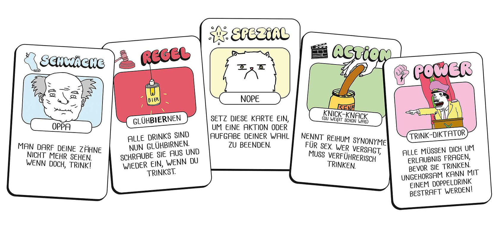 Spielkarten- Drink Drank Drunk