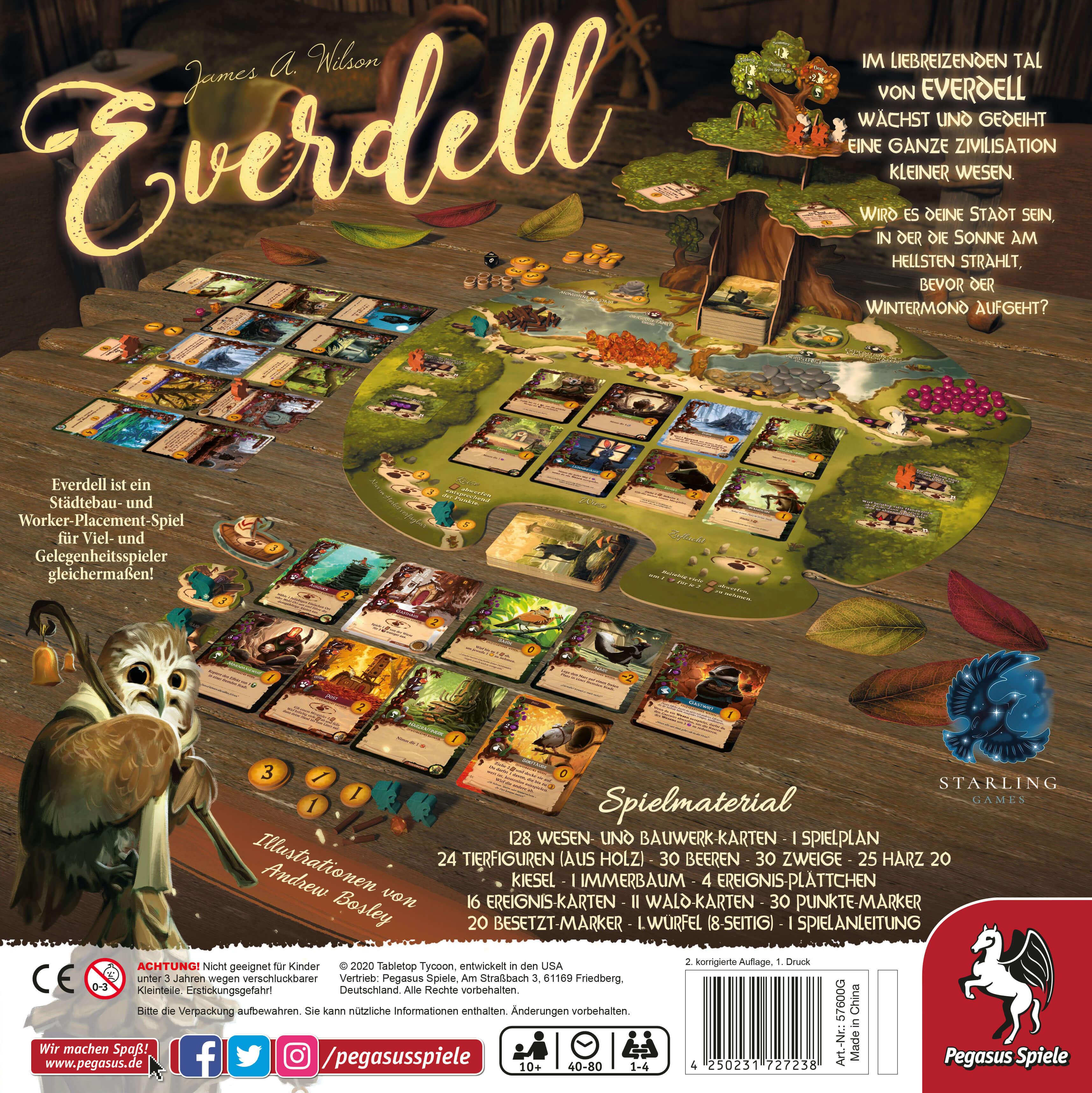 Schachtel Rückseite- Everdell