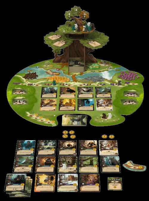 Spielmaterial - Spielbrett, Karten und Figuren- Everdell