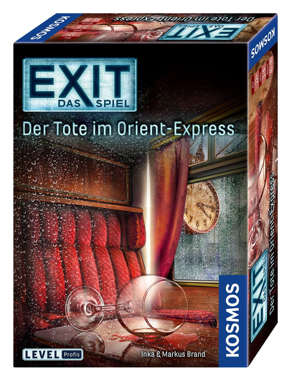 Schachtel Vorderseite, rechte Seite- EXIT – Das Spiel: Der Tote im Orient-Express