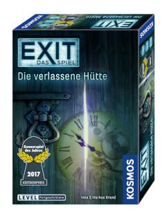 Schachtel Vorderseite - Kennerspiel des Jahres 2017- EXIT – Das Spiel: Die verlassene Hütte