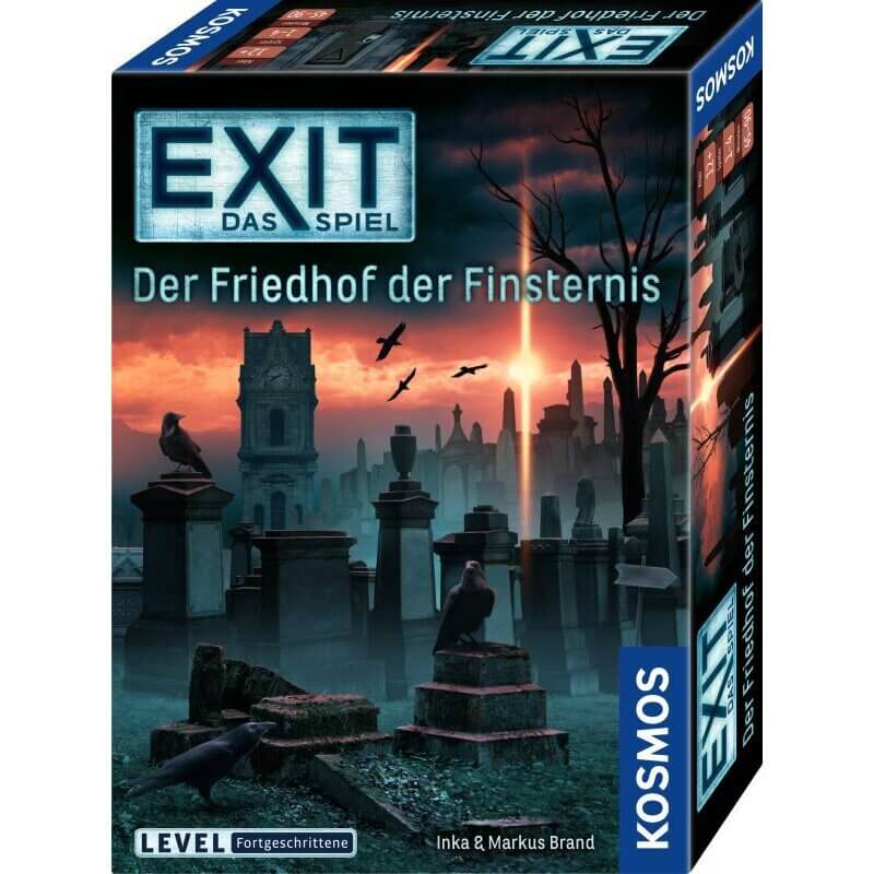 Schachtel Vorderseite- EXIT - Das Spiel: Der Friedhof der Finsternis