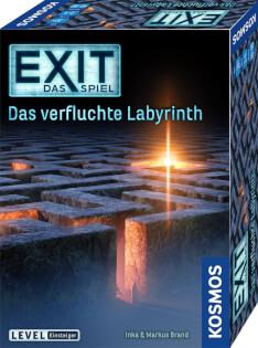 Schachtel Vorderseite, rechte Seite- EXIT – Das Spiel: Das verfluchte Labyrinth