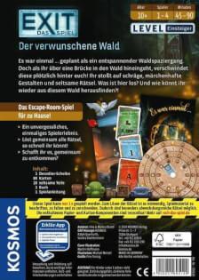 Schachtel Rückseite- EXIT - Das Spiel: Der Verwunschene Wald