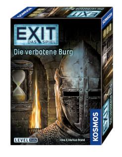 Schachtel Vorderseite, rechte Seite- EXIT - Das Spiel: Die verbotene Burg