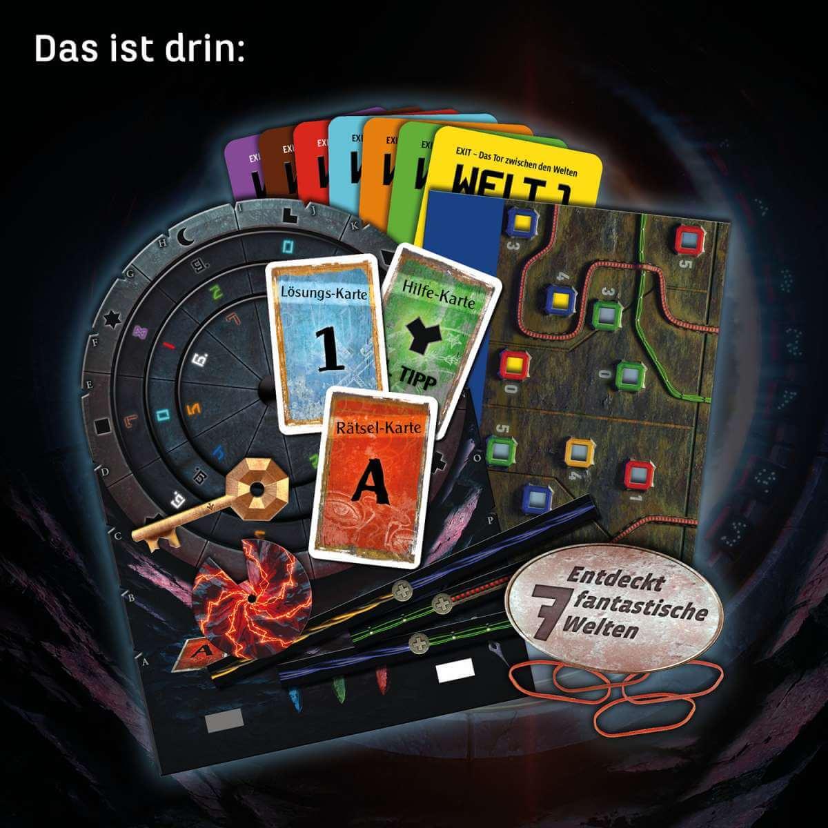 Spielmaterial- EXIT - Das Spiel: Das Tor zwischen den Welten