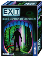 Schachtel Vorderseite, rechte Seite - EXIT – Das Spiel: Die Geisterbahn des Schreckens