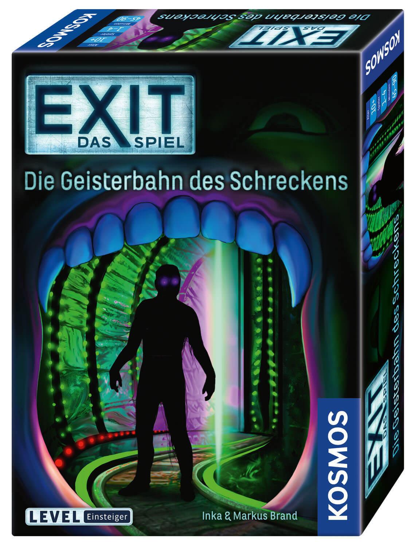 Schachtel Vorderseite, rechte Seite- EXIT – Das Spiel: Die Geisterbahn des Schreckens