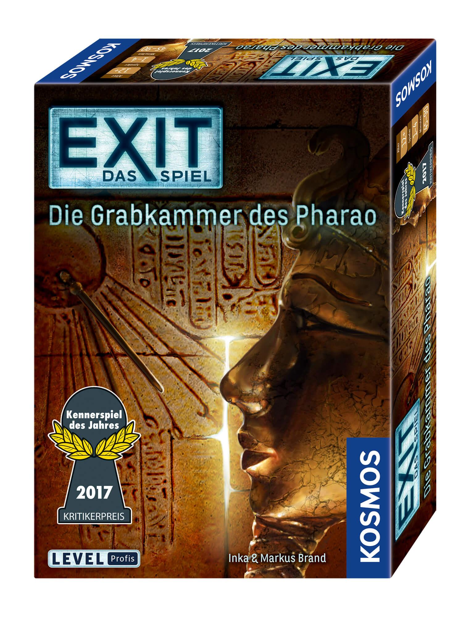 Schachtel Vorderseite, rechte Seite- EXIT - Das Spiel: Die Grabkammer des Pharao