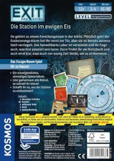 Schachtel Rückseite- EXIT – Das Spiel: Die Station im ewigen Eis