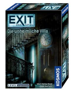 Schachtel Vorderseite, rechte Seite- EXIT - Das Spiel: Die unheimliche Villa
