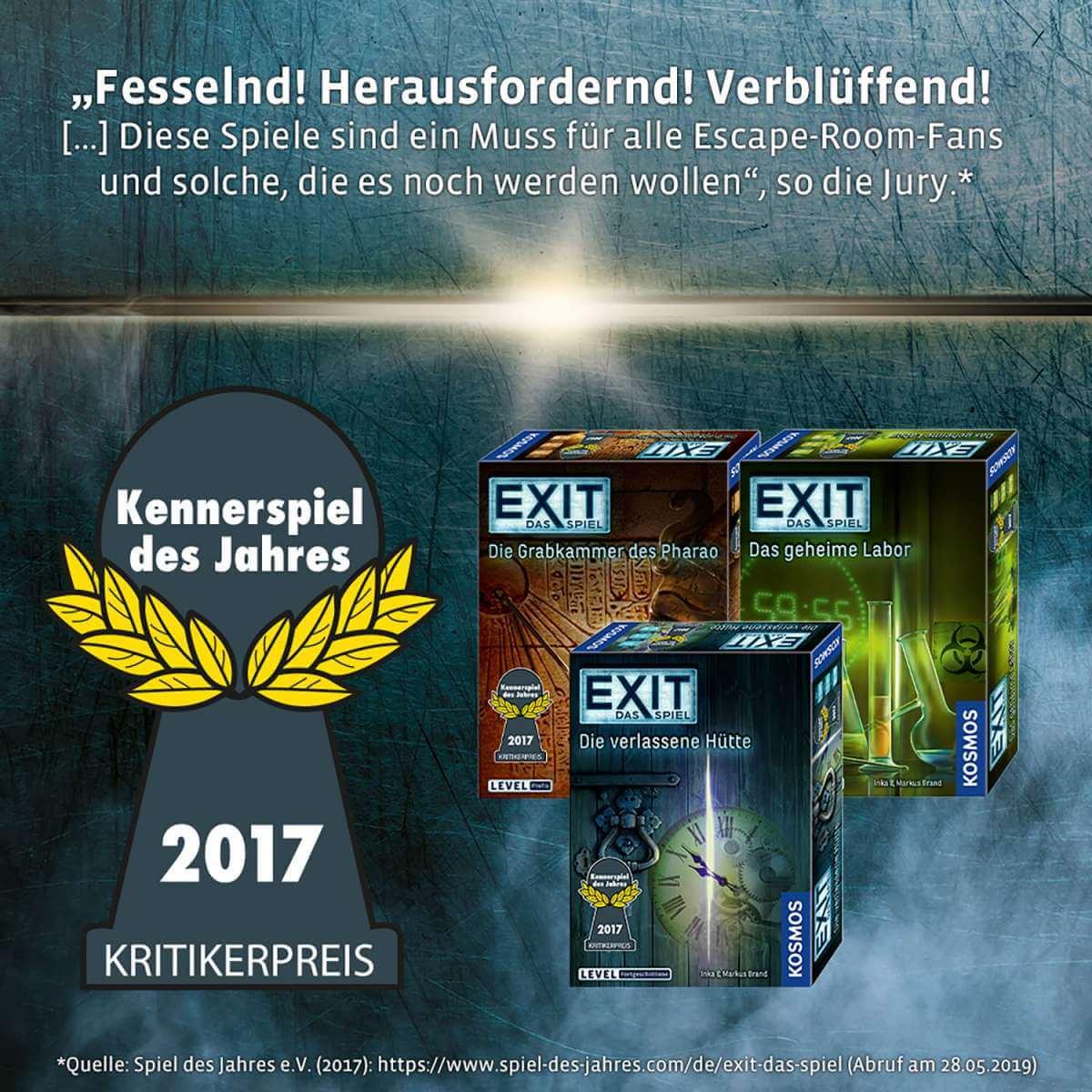 Kennerspiel des Jahres- EXIT - Das Spiel: Der Flug ins Ungewisse