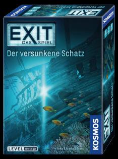 Schachtel Vorderseite, rechte Seite- EXIT - Das Spiel: Der versunkene Schatz