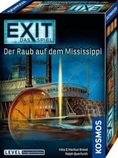 Schachtel Vorderseite, rechte Seite- EXIT – Das Spiel: Der Raub auf dem Mississippi