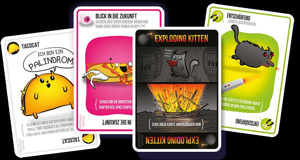 Lustige Spielkarten - Katzen- Exploding Kittens