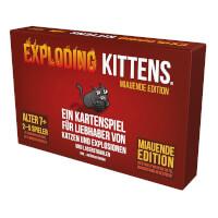 Schachtel Vorderseite - Exploding Kittens - Miauende Edition