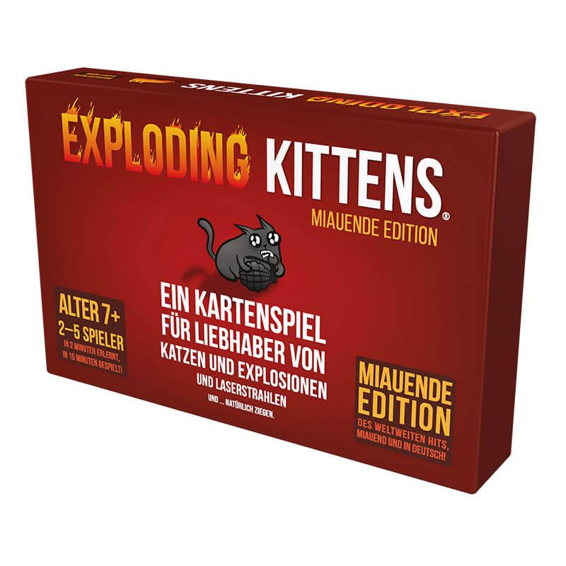 Schachtel Vorderseite- Exploding Kittens - Miauende Edition