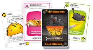 Spielkarten- Exploding Kittens - Miauende Edition