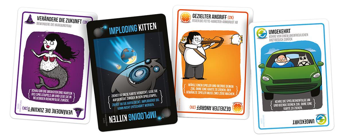 Spielkarten- Exploding Kittens - Imploding Kittens