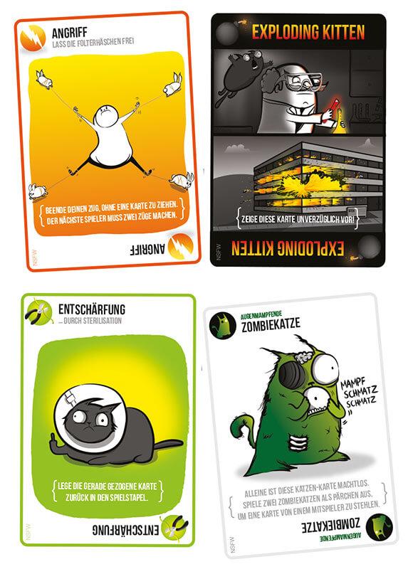 Spielkarten- Exploding Kittens - NSFW Edition