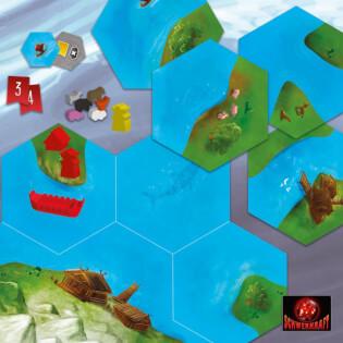 Spielmaterial - Spielplättchen und Ressourcen- Entdecker der Nordsee