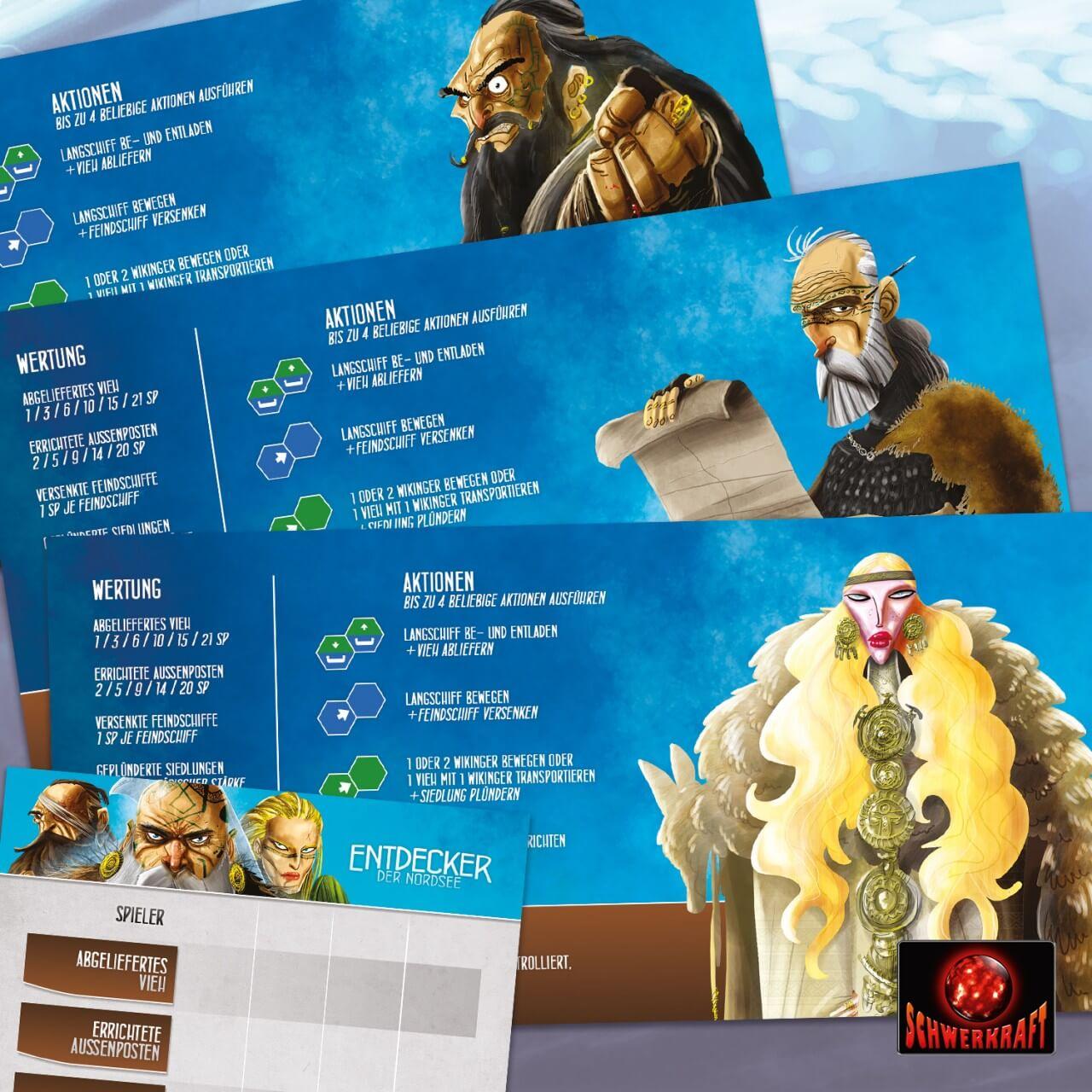 Spielmaterial - Personenkarten- Entdecker der Nordsee