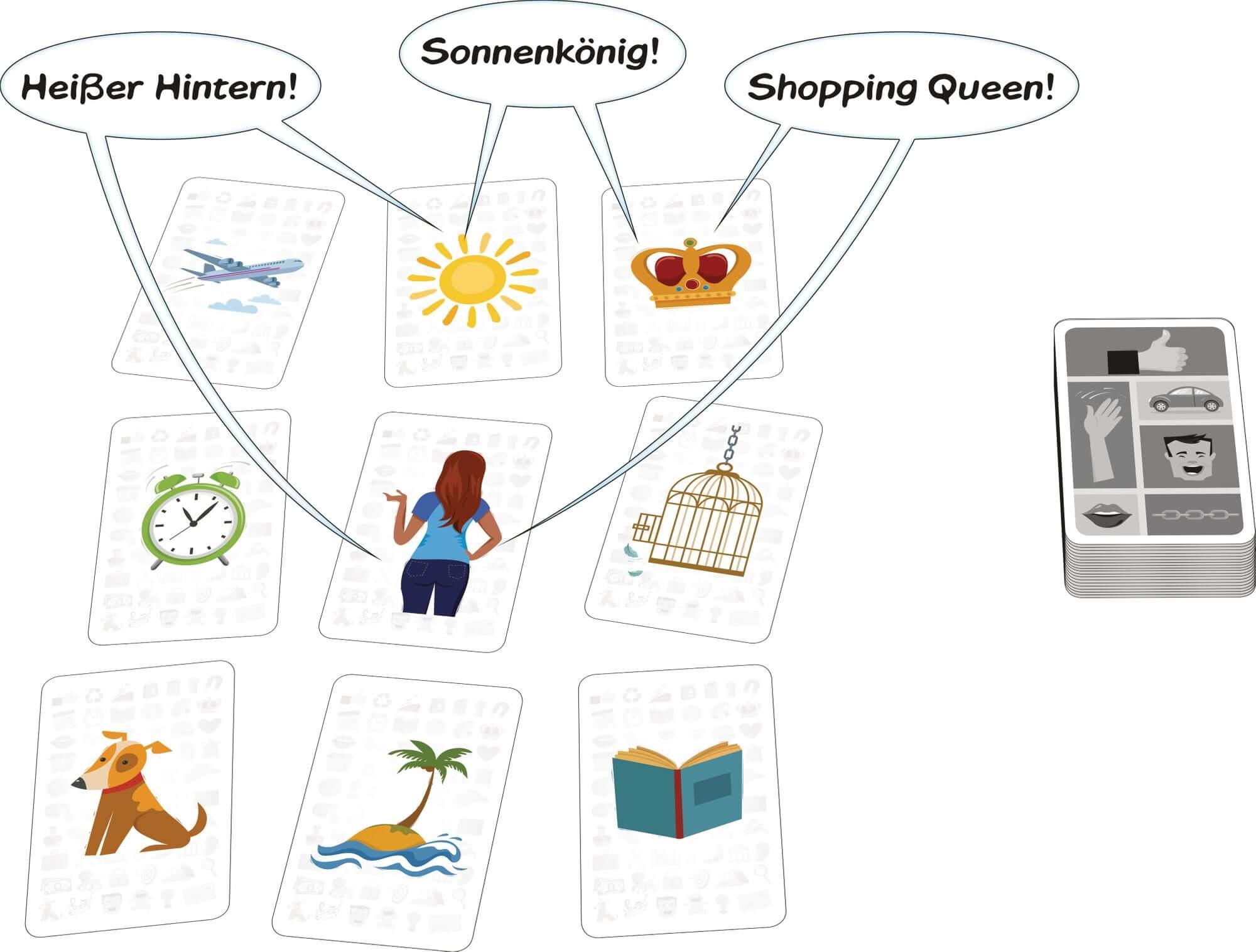 Spielkarten - Spielprinzip erklärt- Brain Storm