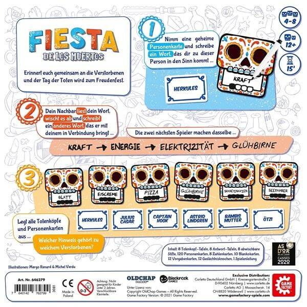 Schachtel Rückseite- Fiesta de los Muertos
