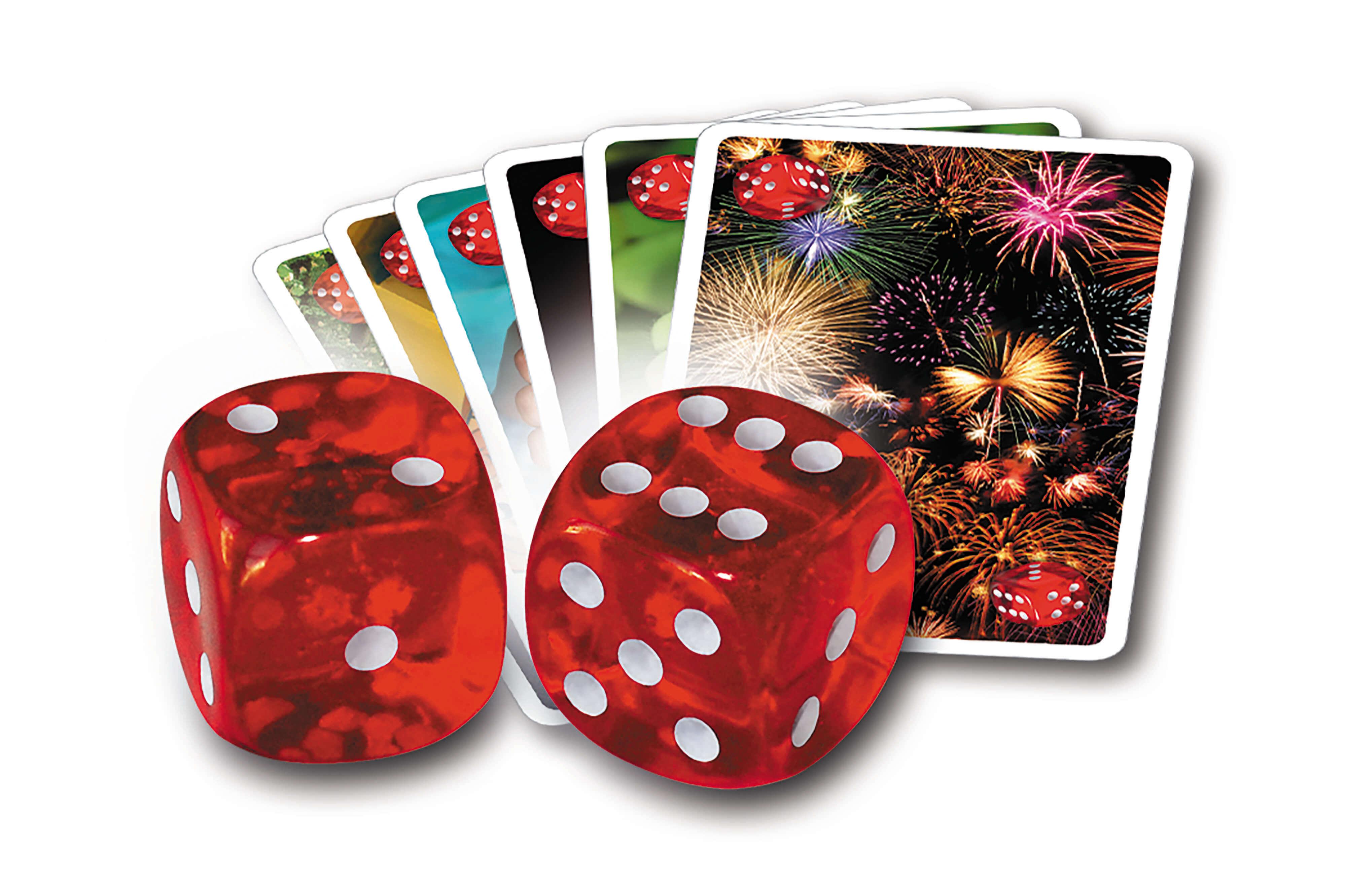 Spielmaterial - Würfel und Karten- Tutto