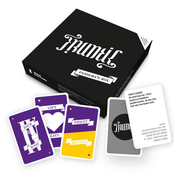 Schachtel Vorderseite - Spielkarten- Frantic: Pandora