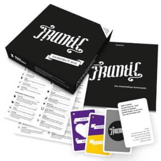 Schachtel Vorderseite - Spielmaterial- Frantic: Pandora