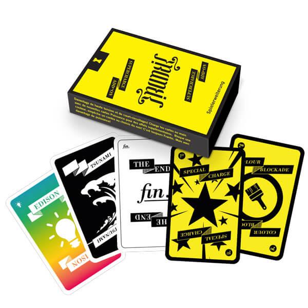 Schachtel Vorderseite - Spielkarten- Frantic: Supercharge Add-On
