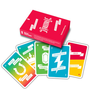 Schachtel Vorderseite - Spielkarten- Frantic: Troublemaker Add-On