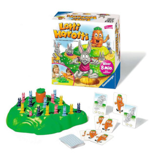 Schachtel und Spielmaterial- Lotti Karotti