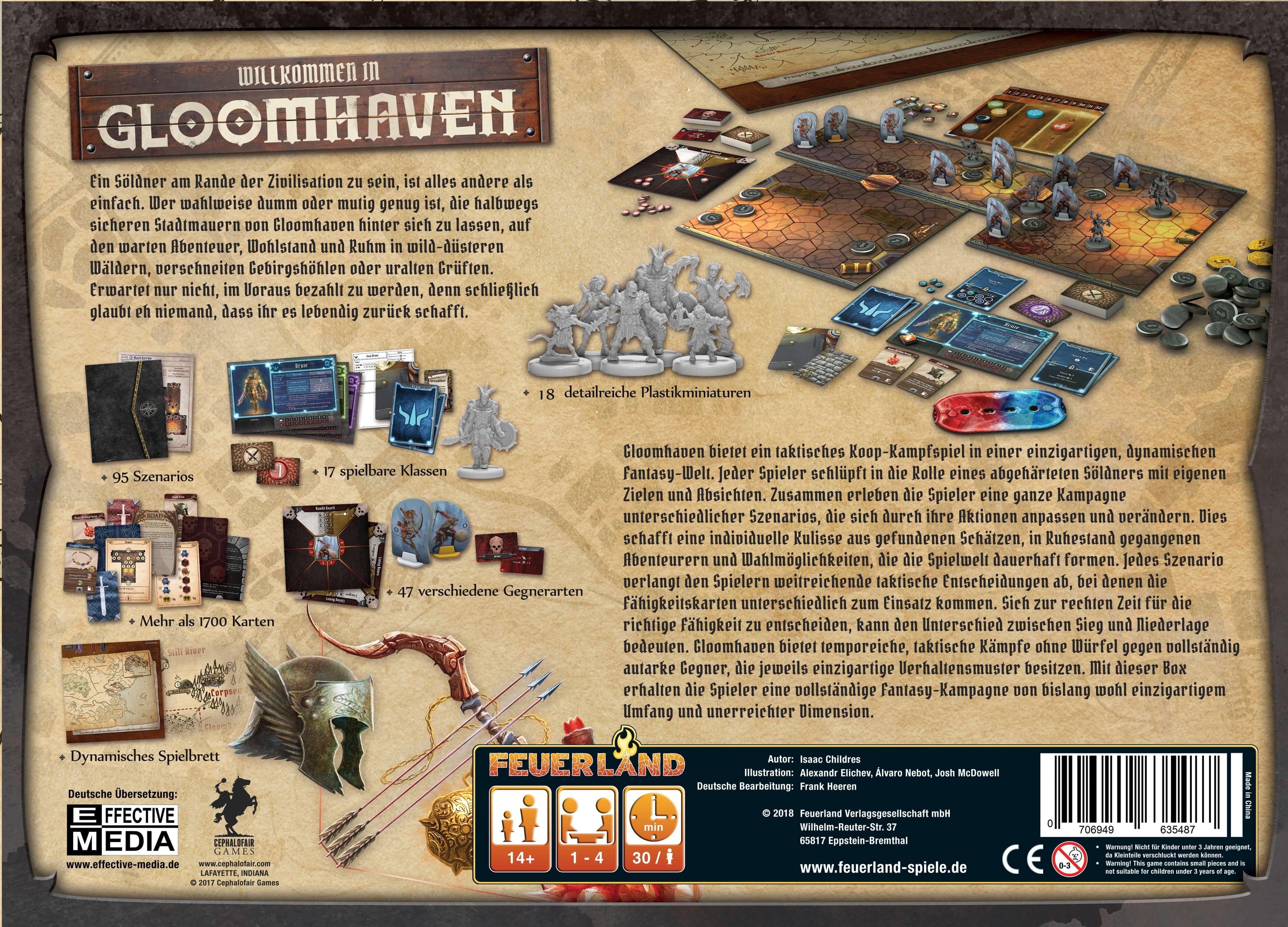 Schachtel Rückseite- Gloomhaven