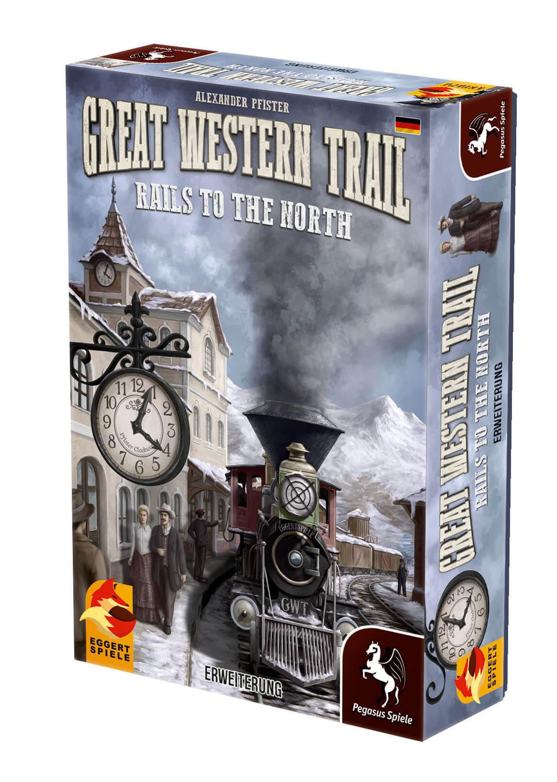 Schachtel Vorderseite, rechte Seite- Great Western Trail: Rails to the North