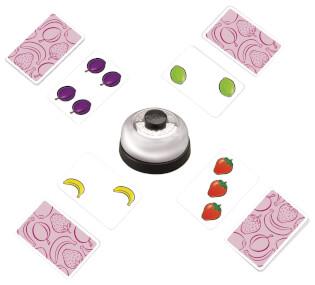 Spielkarten und Glocke- Halli Galli