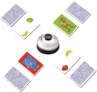 Spielkarten und Glocke- Halli Galli Extreme
