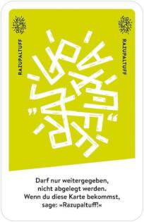 Spielkarte Razapuff- Halt mal kurz