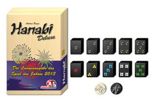 Schachtel und Spielsteine - Spiel des Jahres 2013- Hanabi Deluxe